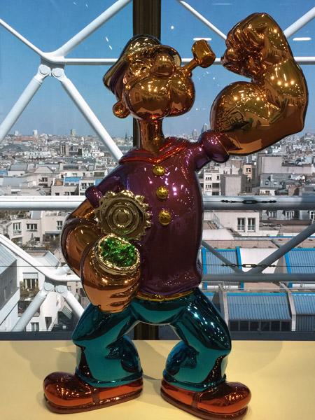 Jeff Koons Centre Pompidou, Popeye