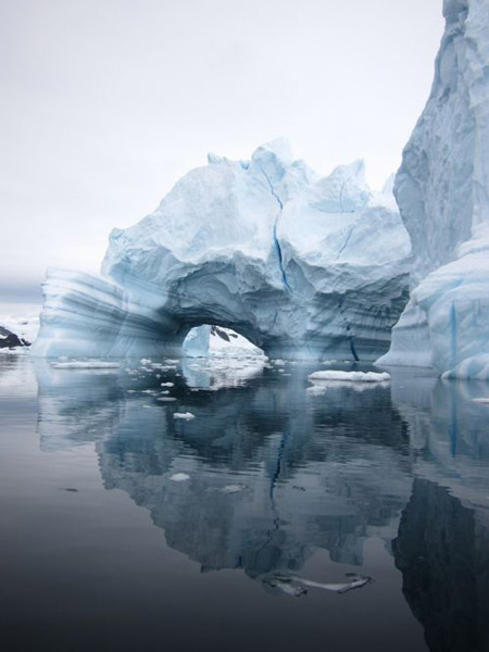 Inky blue grey iceberg