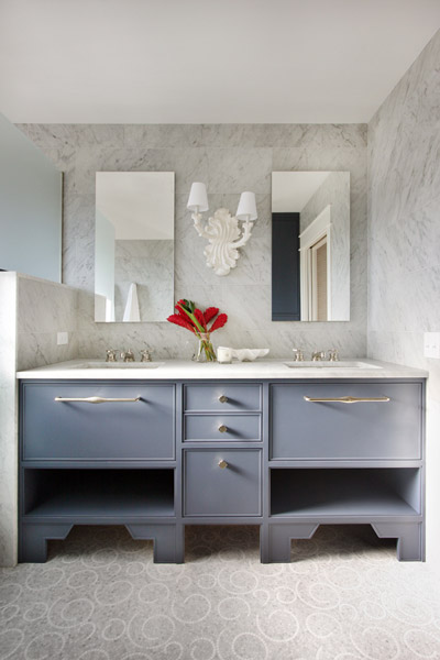 Jenny Wolf, Lonny Magazine, Long Beach Island Summer beach house, bathroom