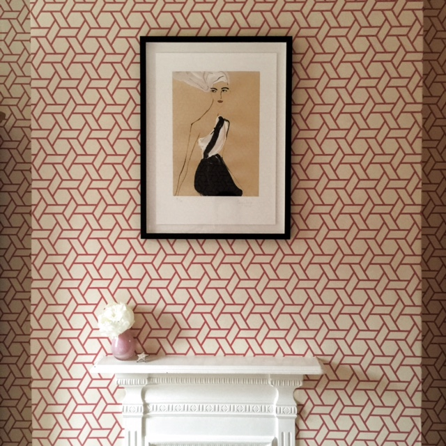 Manuel Canovas lattice pink bedroom