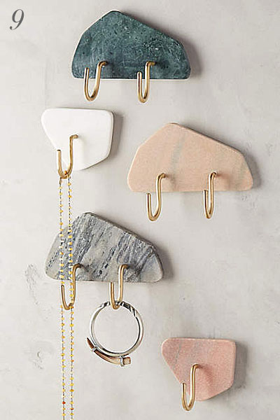 Anthropologie Sugared Marble Hook | Hardware