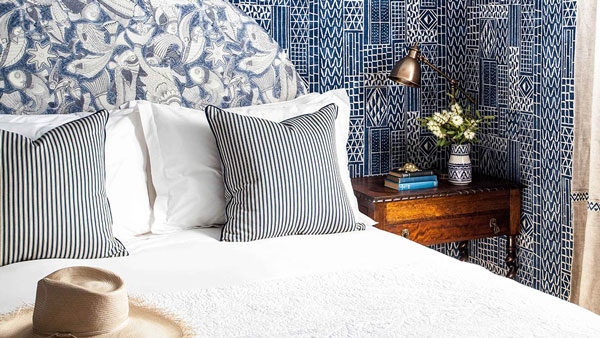 Halcyon house hotel, Cabarita beach Australia, Bedroom, Designed by Interior DesignerAnna Spiro