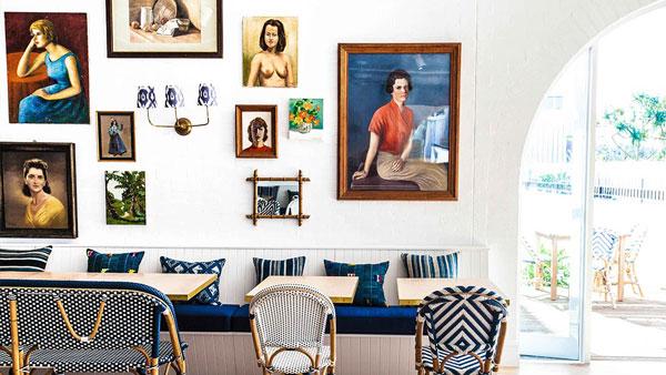 Halcyon house hotel, Cabarita beach Australia, Paper Daisy restaurant, Designed by Interior DesignerAnna Spiro