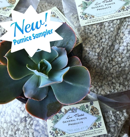 "Our newest addition, the pumice sampler! for those who are new to pumice and aren't sure about what size they'll need, this sampler gives you 5lbs. of each stone size, 1/8"", 3/16"", and 3/8""."