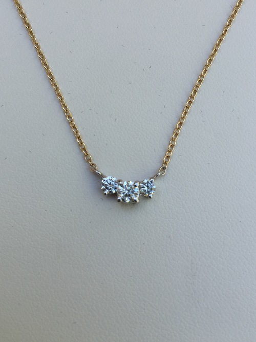Diamond pendantnecklaces trillion jewels nbsp231 usd525 stamped 14k yellow and white gold diamond pendant aloadofball Images
