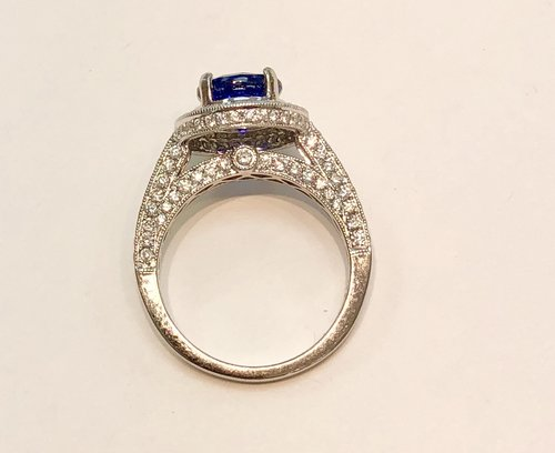 diamond boho pin one set wedding teal sapphire carat ring