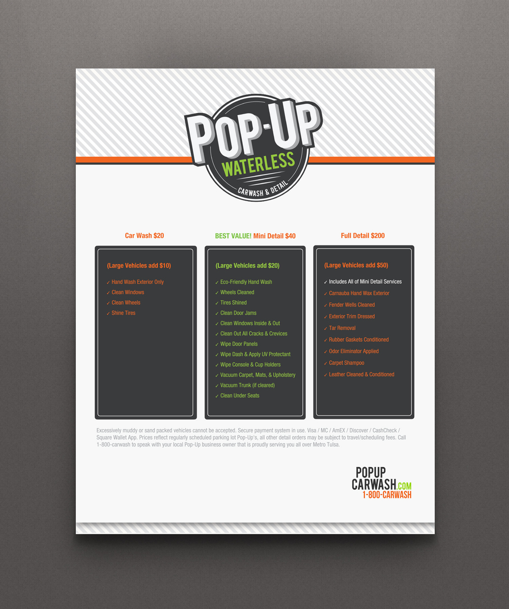 Pop-Up Car Wash Flyer