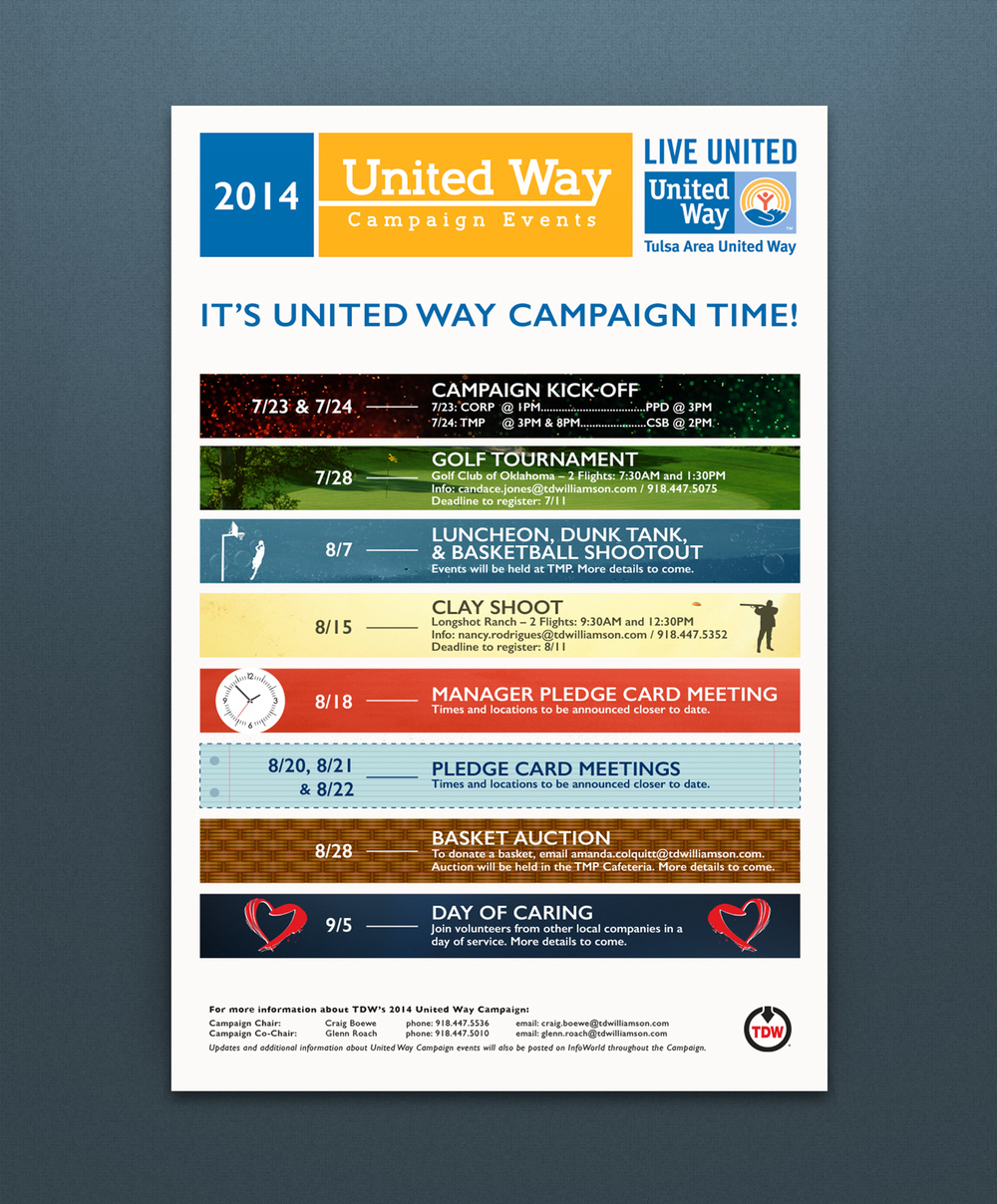 Annual TDW-United Way Campaign Poster (11x17)