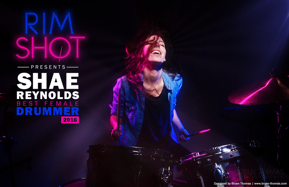 Rim Shot: Best Female Drummer, 2016 (17x11 flyer)