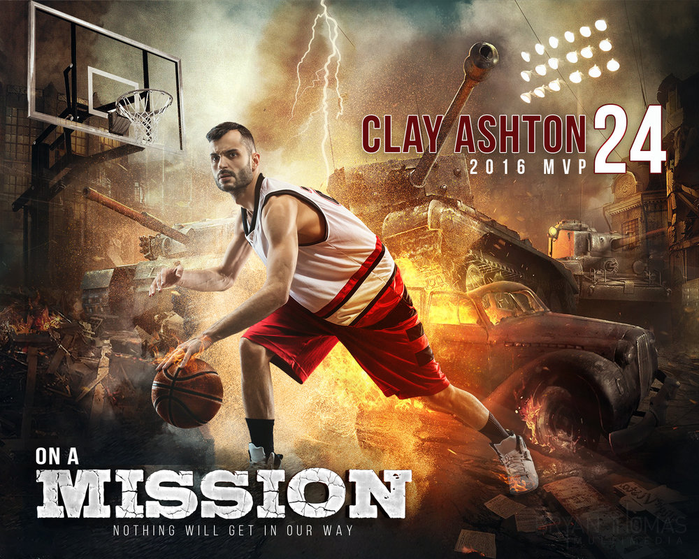 "Basketball Poster: ""On a Mission"""