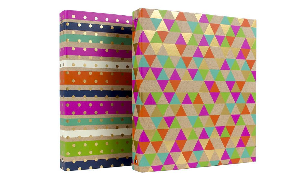 "1"" Ring Binder - Kraft & Gold Metallic  // Greenroom, available at Target"