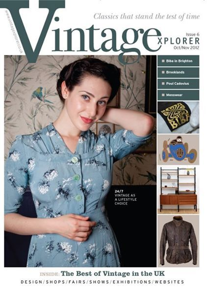 Ruth, one of the hardworking waitresses at Blackbird Tearooms, graces the cover of Vintage Explorer