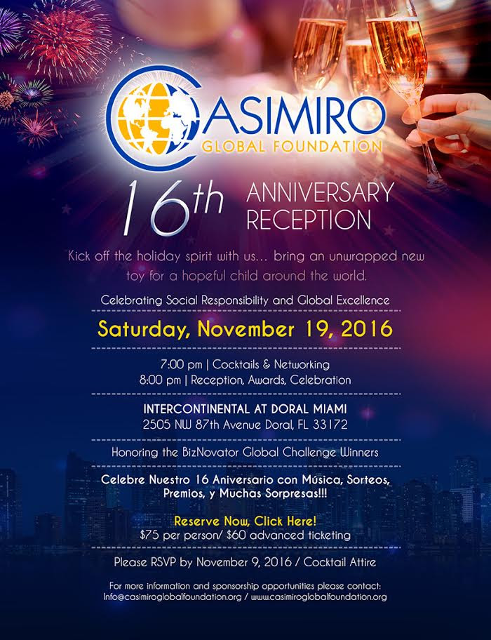 16th Annual Reception Official Event Page