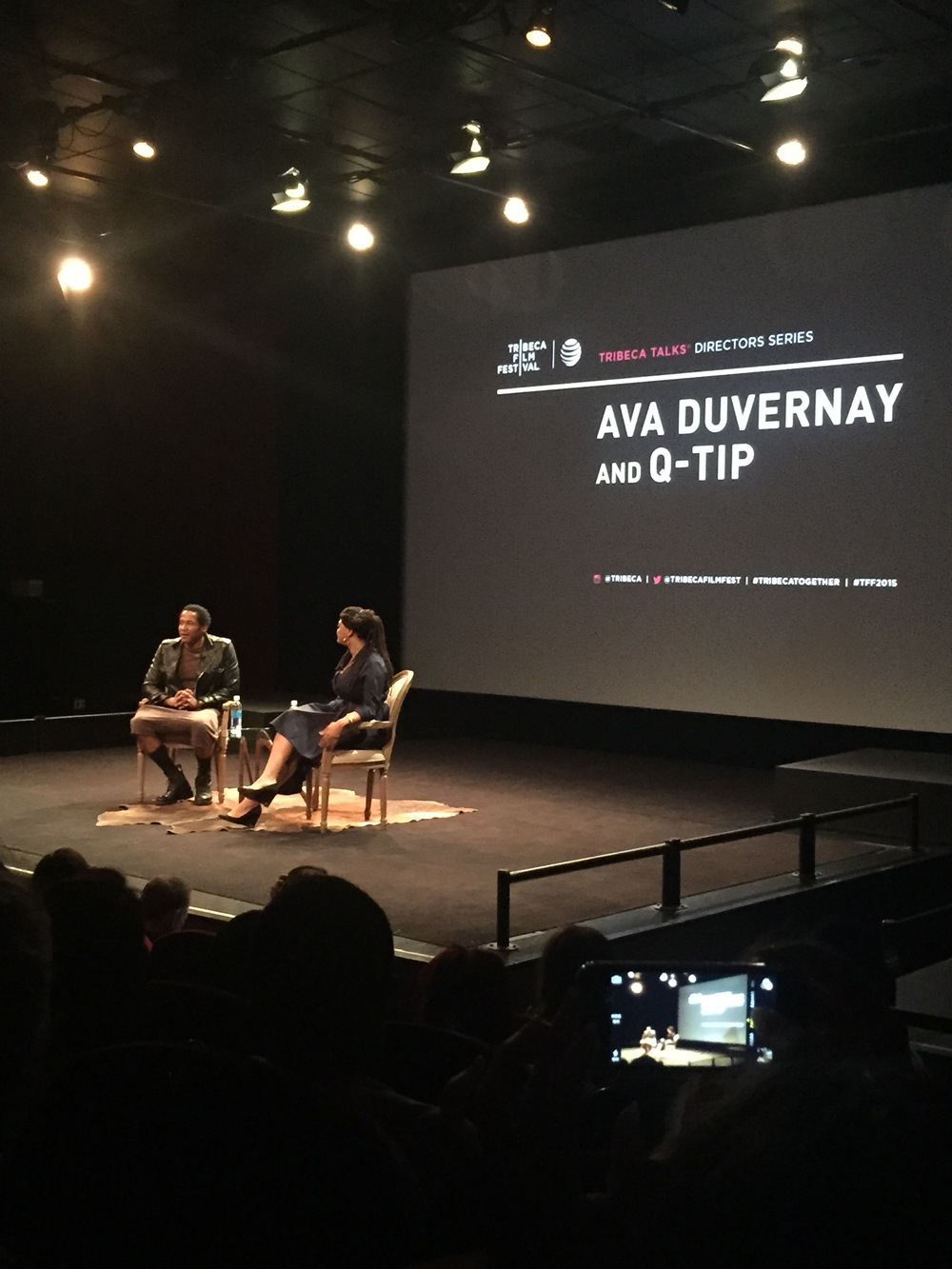 A lot of love from Ava Duvernay and Q-Tip. She came straight from her flight from LA to the venue for her panel!