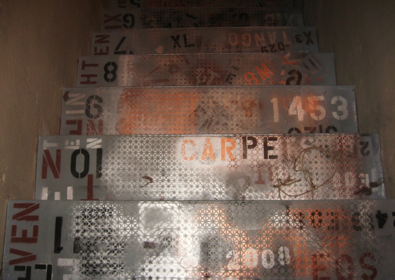 Graphic Stairs from an old job by Corehaus