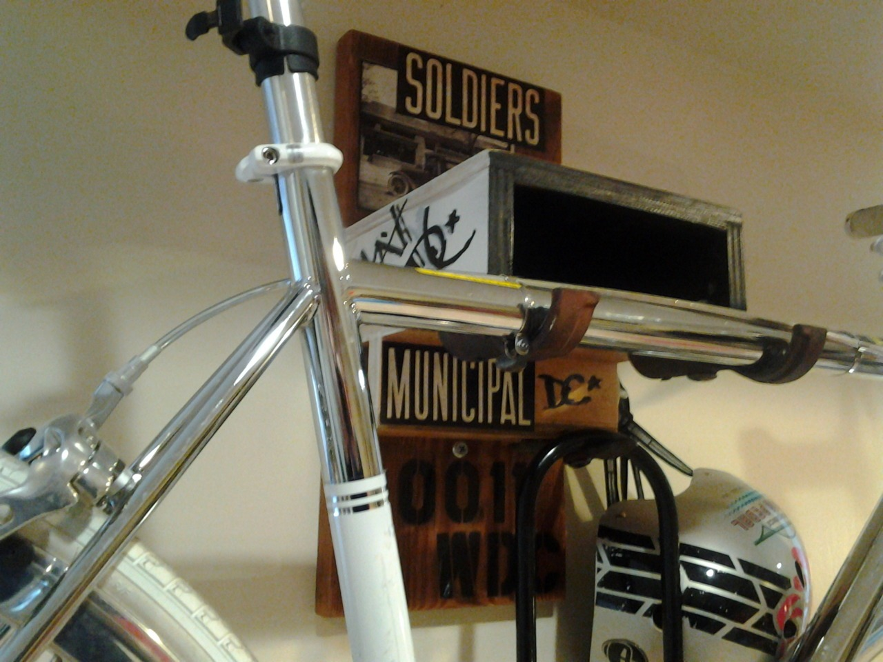 Custom bike shelf installed near the Soldier's Home in DC today.
