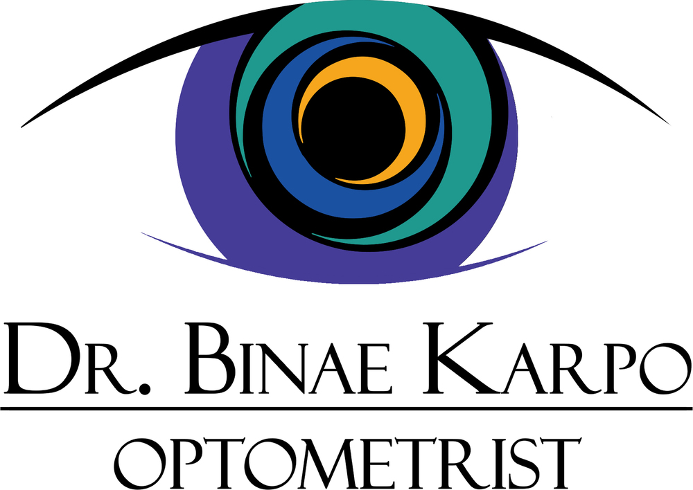 Profesional logo for Dr. Binae Karpo Optometry, located in Allentown, PA.