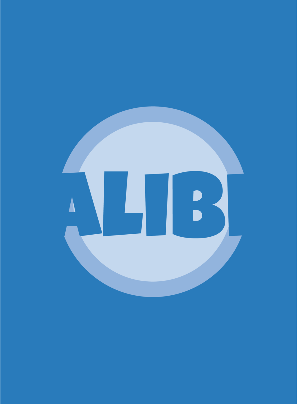 Logo for the card game Alibi, released 2016.