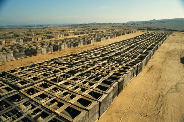 1998 Fallbrook Discarded Napalm Bombs Storage.jpeg