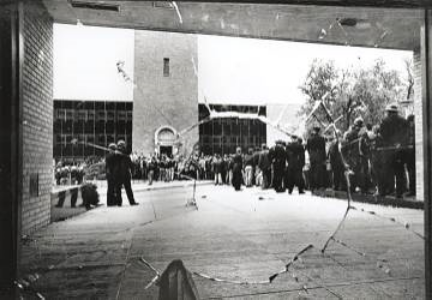 1967: University of Wisconsin-Madison protest against napalm and the Vietnam War.UW-Madison Archives