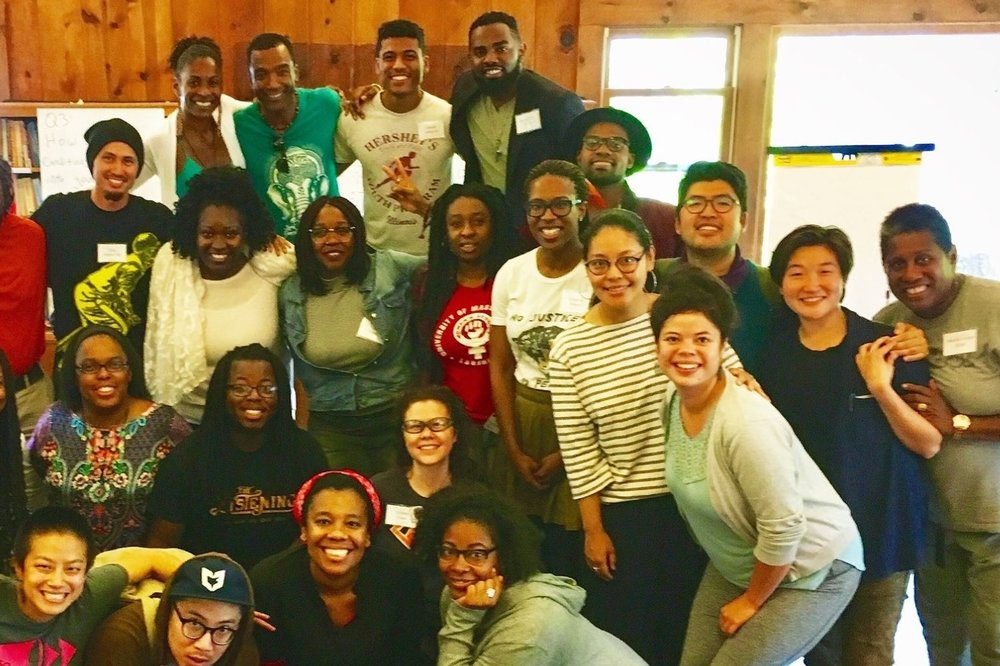 Participants of color at the 2017 Formation Gathering sponsored by the how we gather team.
