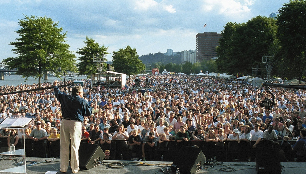 Luis Preaching at Portland CityFest, 2000