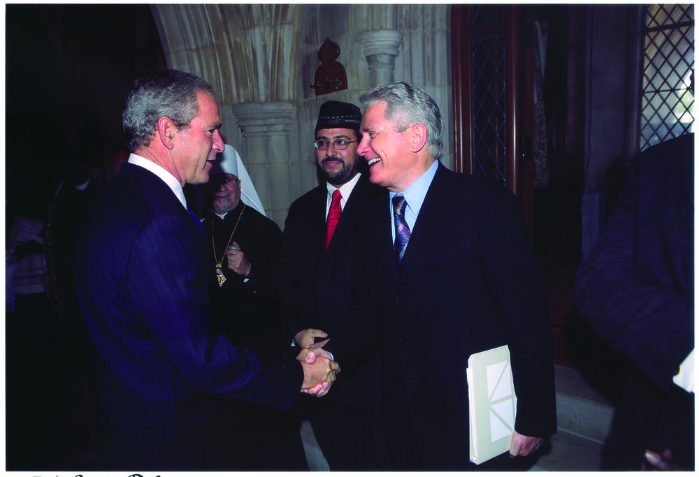 President Bush Greets Luis at the National Day of Prayer and Remembrance, Washington D.C., 2005