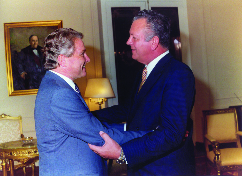 Luis with the President of Paraguay, 1980
