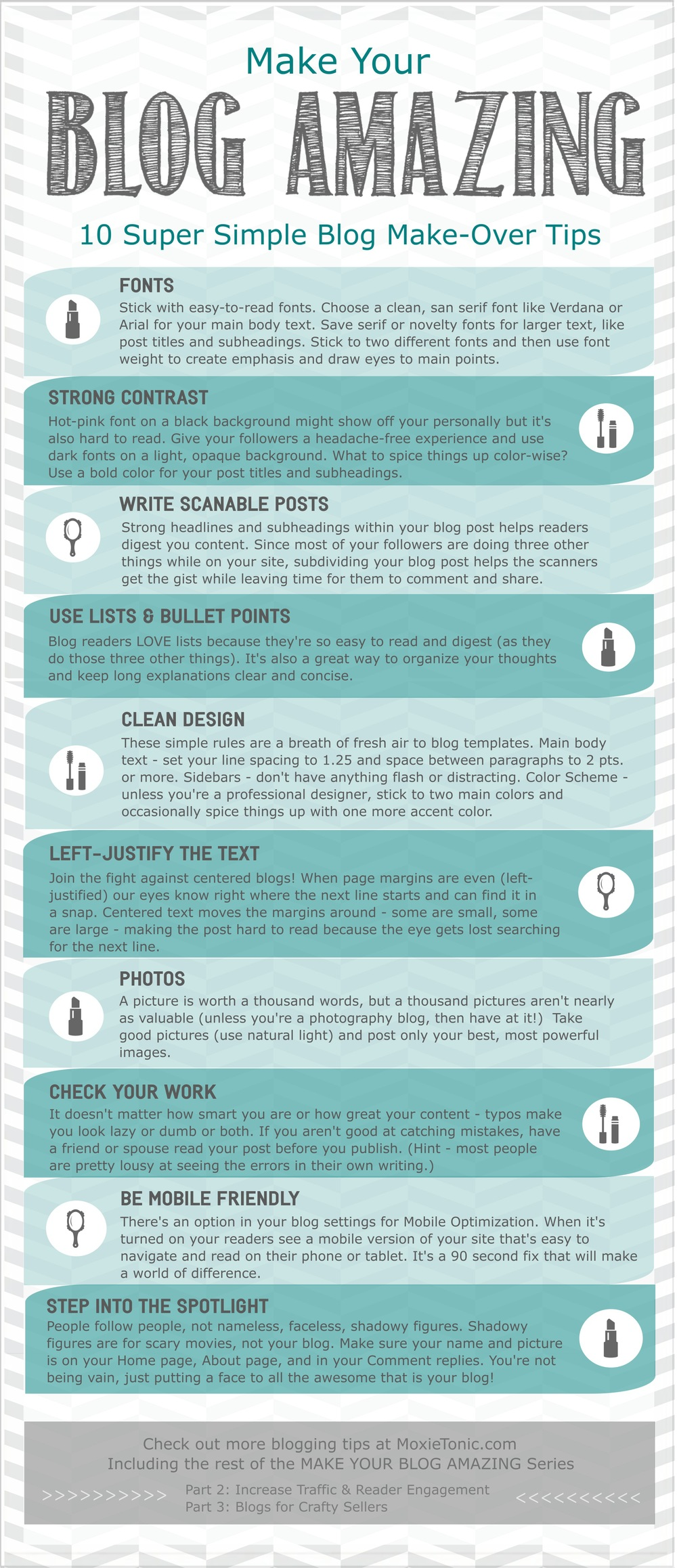 Improve Your  Blog with these 10 Simple Tips -- from MoxieTonic.biz