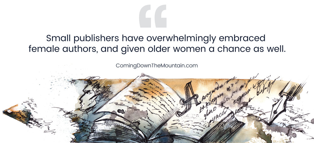 wondering how to get published as a female writer? Try smaller publishing houses to start.