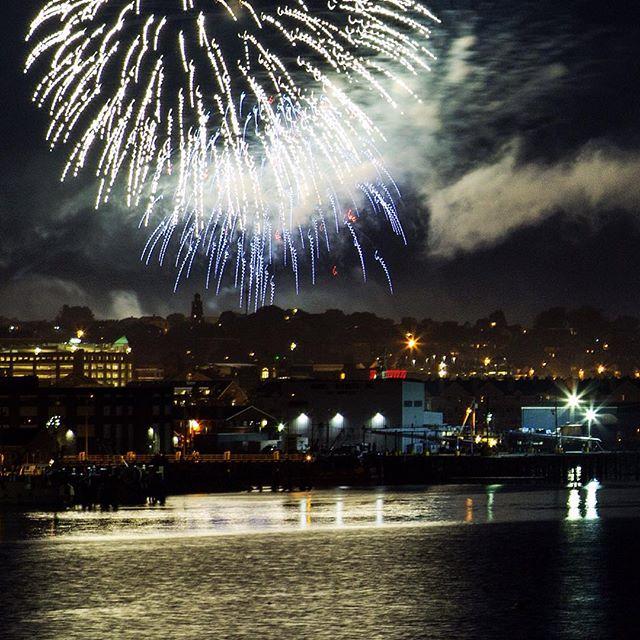 Fireworks over Portland... #maine #portland #portlandmaine #fireworks #july4th #igersmaine #independenceday #america #usa