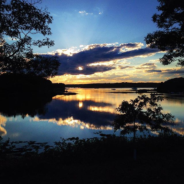 Sunset in Harpswell... #maine #sunset #sky #summer #newengland #harpswell