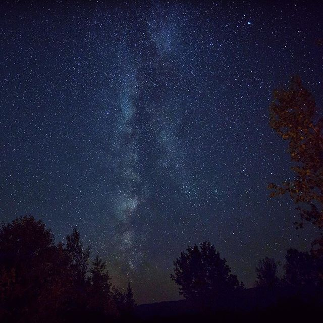Night sky over Maine... #sky #nightsky #stars #milkyway #night #naturelovers #nature #natureshots