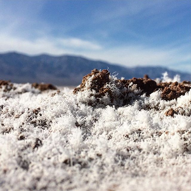 Salt at Badwater Basin... #desert #california #deathvalley #badwaterbasin #salt #west #deathvalleynationalpark #nature