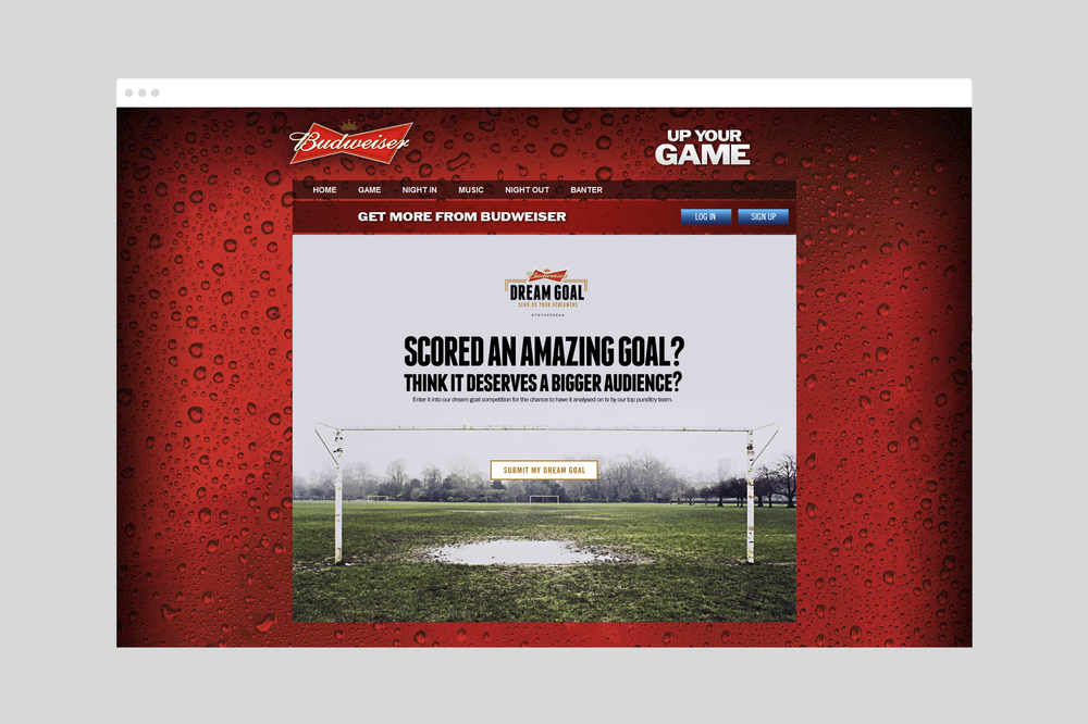 Budweiser Dream Goal Website