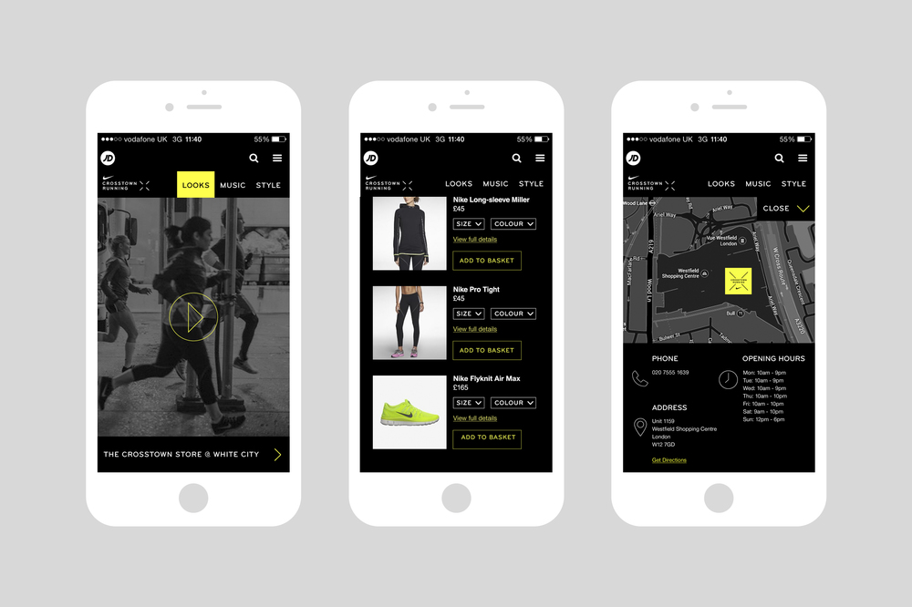 Nike Cross Town Running Mobile Experience