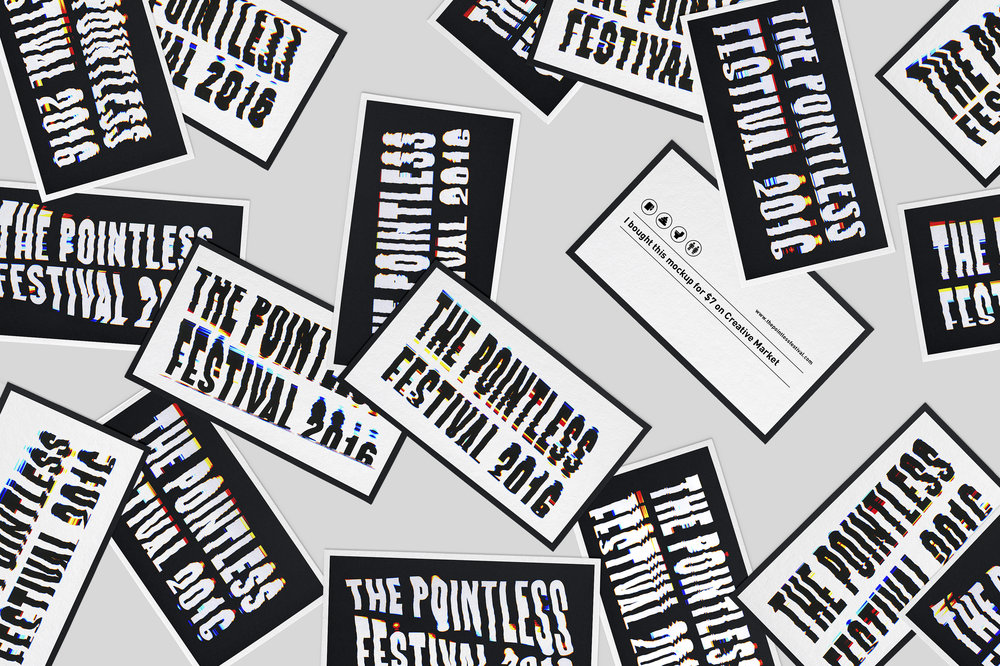 The Pointless Festival Business Cards