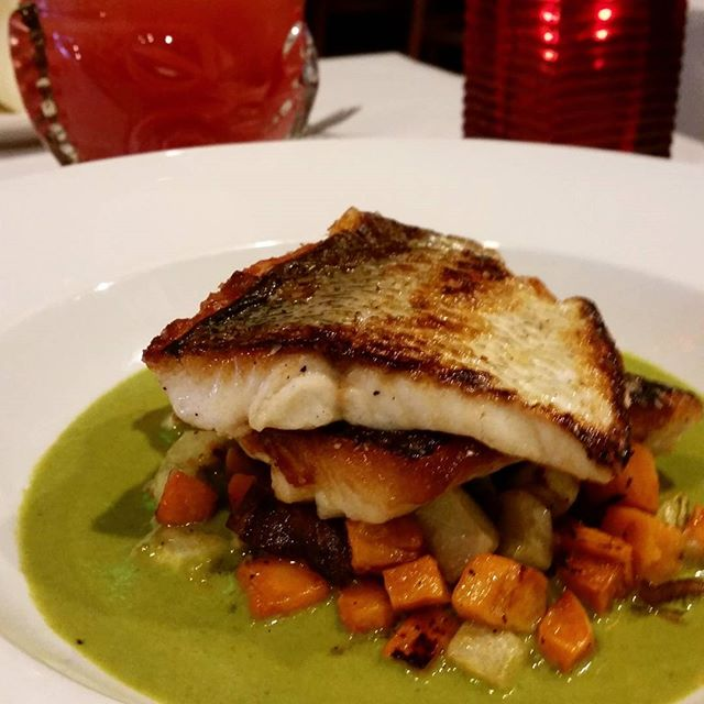 Let's start April with a new and delicious dish.  #WickerPark#MixedDrinks#chicago#windycity#specials#mexican#salmon#camote