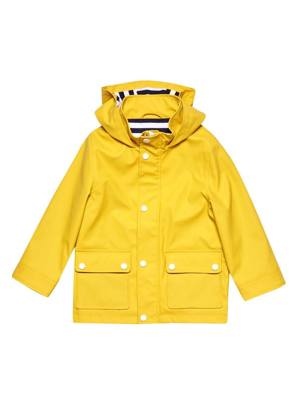 7. Yellow Hooded Rain Mac