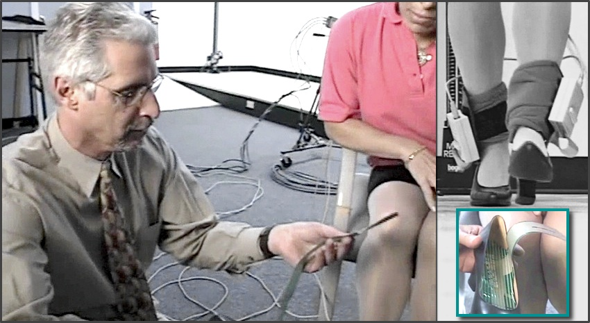 Dr. Dananberg runs an In-shoe pressure test