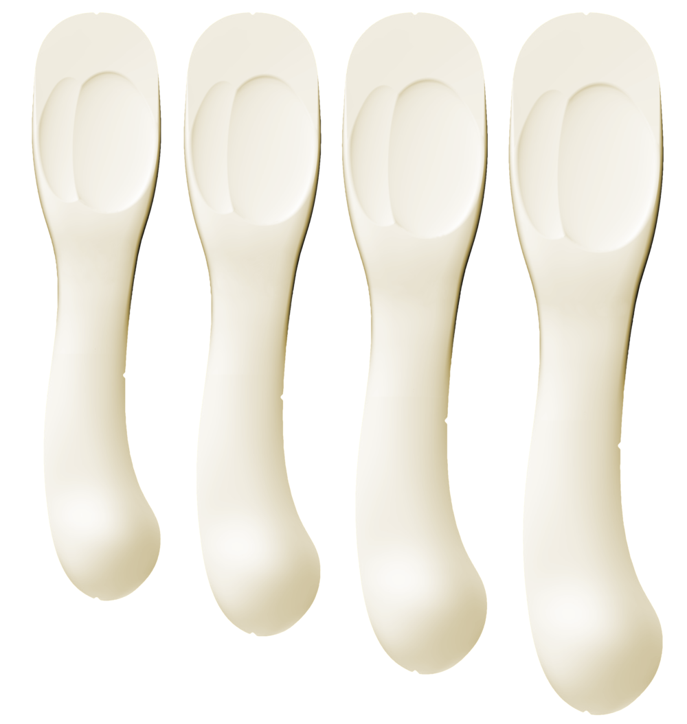 Insolia Heels: The four right foot components show the four sizes that cover from Euro 34 to 42 (US W 4 to 12)