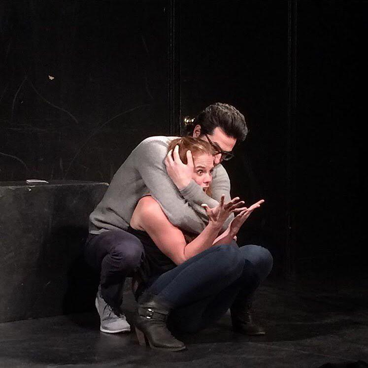 Julie with Ben Schwartz in Gravid Water at UCB LA