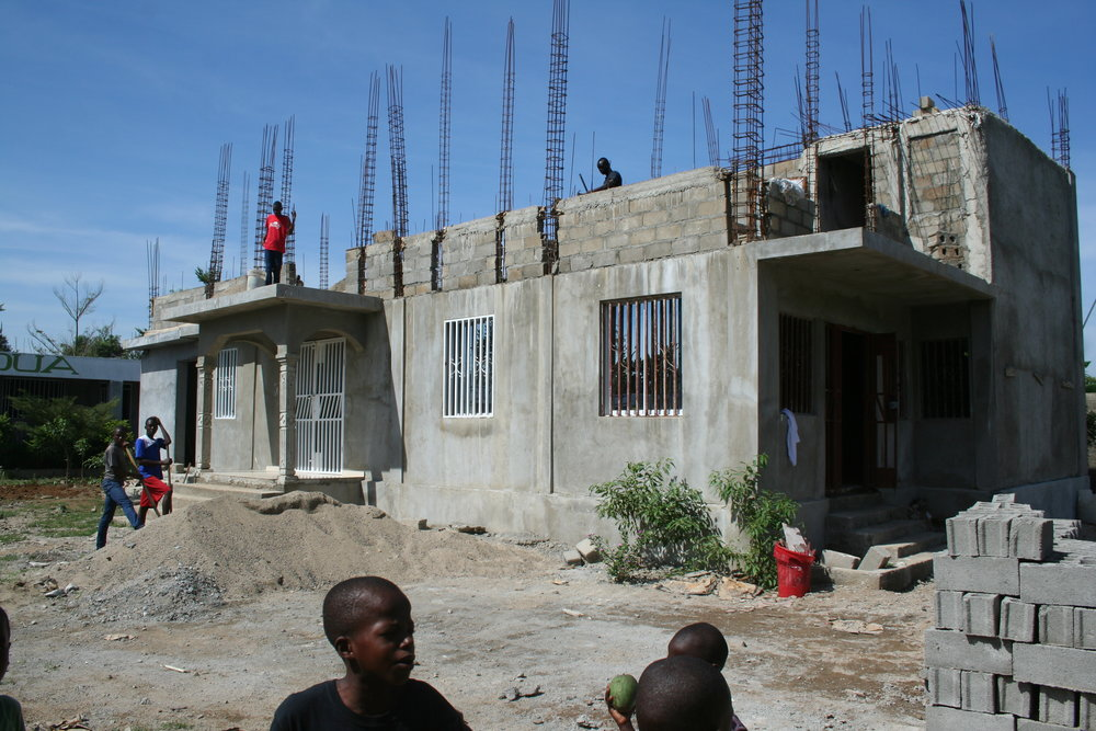 2nd story construction at school