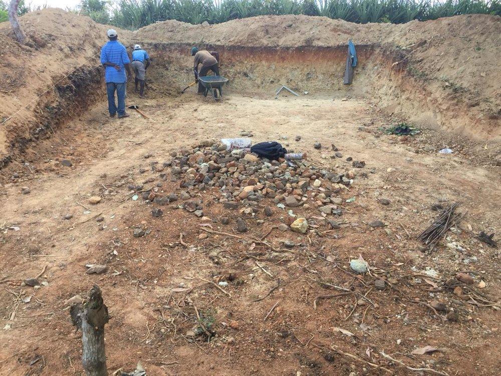 Baja Cookhouse Digging Foundation