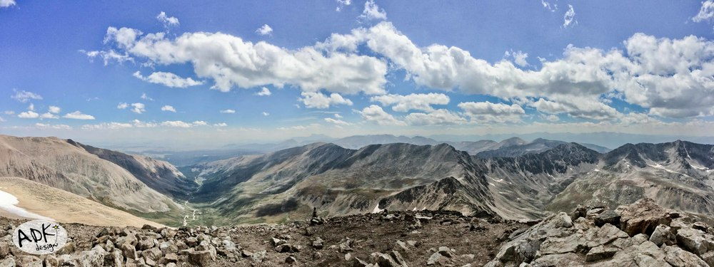 The view from the top of Mt. Democrat near Breckenridge, CO