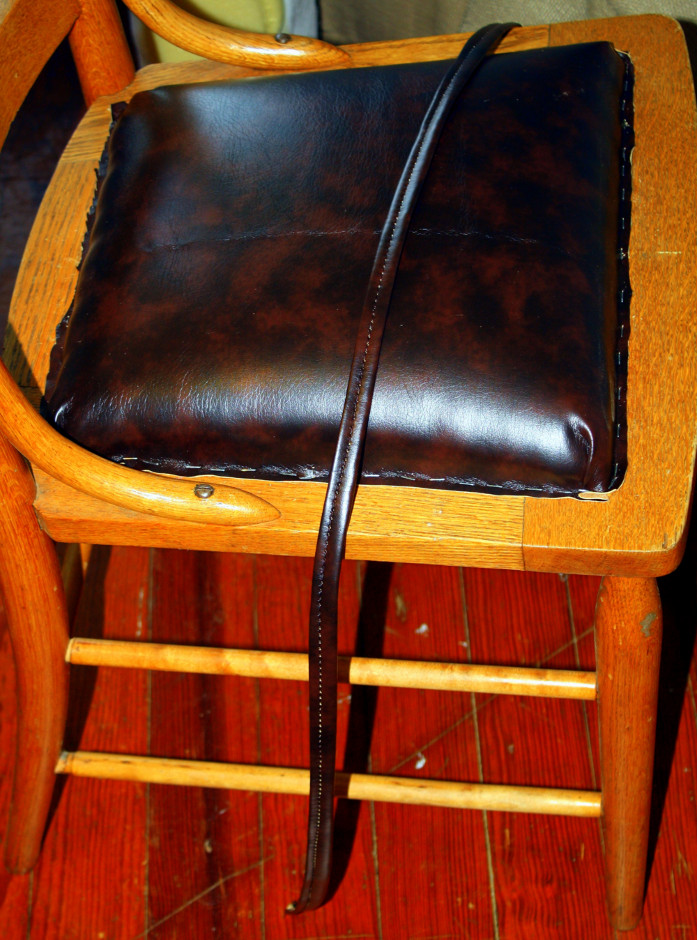 For An In Depth Explanation Of How To Properly Attach Fabric Or Vinyl, See  My June Post On How To Recover A Dining Chair Seat.