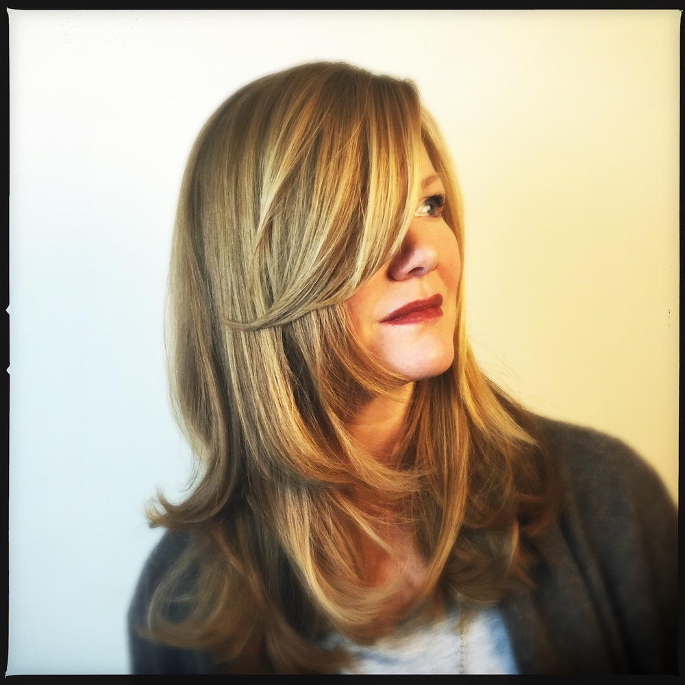 Chris's color is ALL NATURAL...but we had fun with her cut. Layering WAY MORE than normal.
