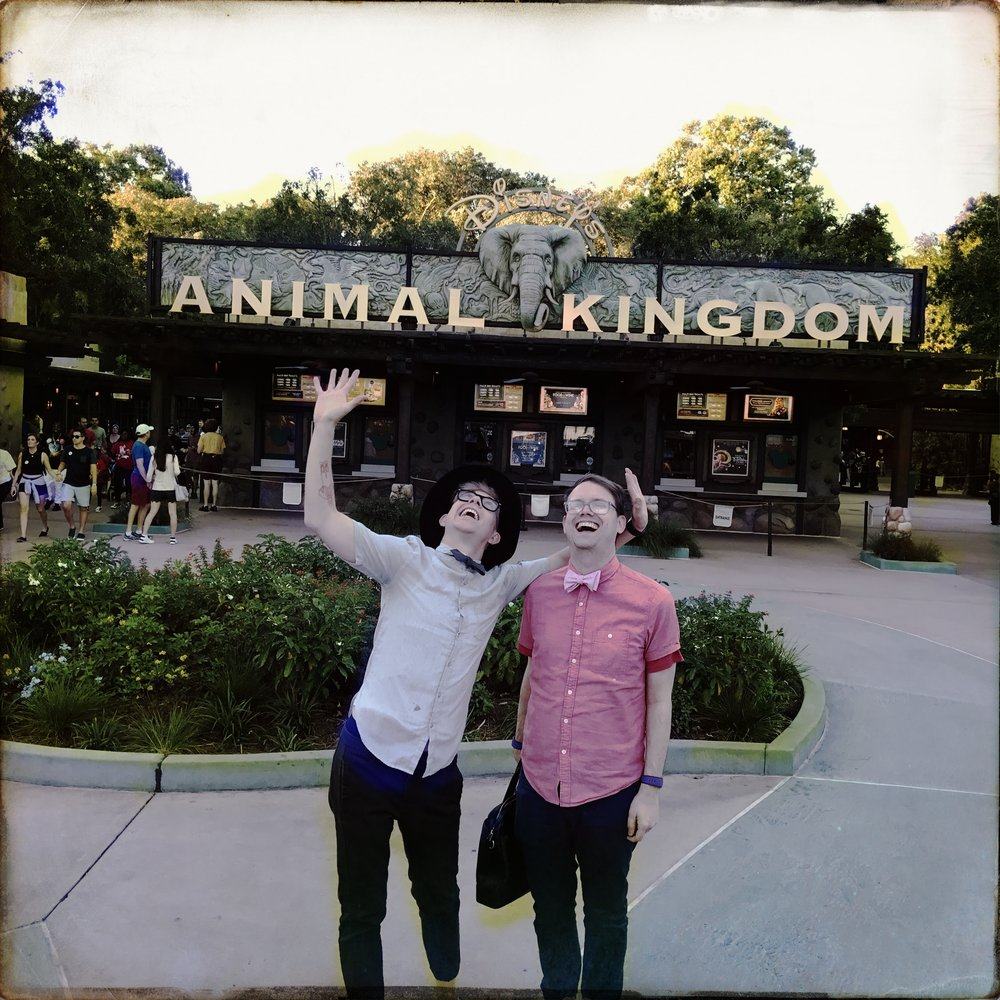If I'm having a bad day, this will be the picture I look at.  I love how genuinely excited Adam and I are for our fun night at Animal Kingdom.