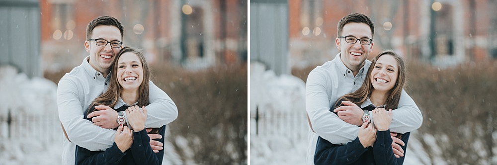Woodstock Engagement Session - Winter Engagement Session - Liller Photo - Milwaukee Wedding Photographers