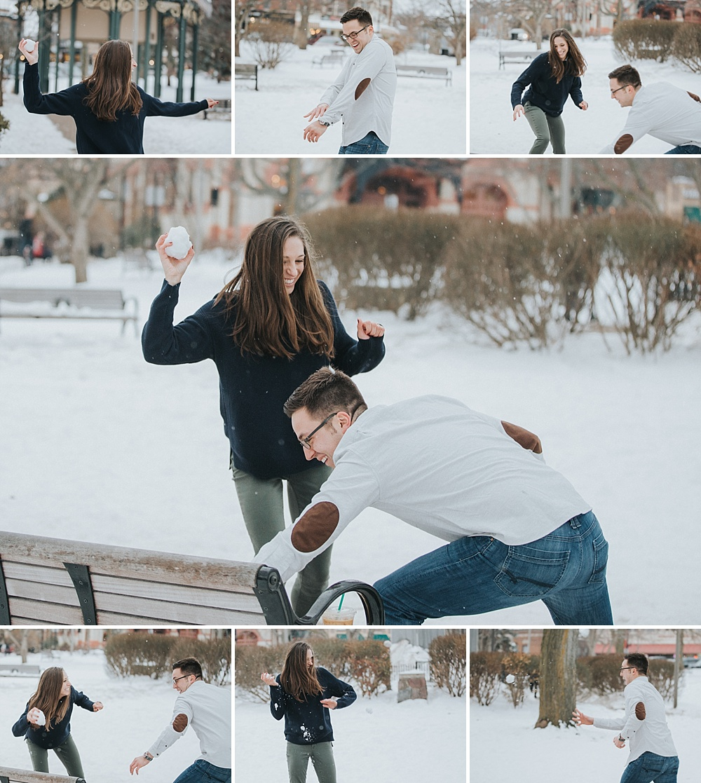 Woodstock Square Engagement Session - Winter Engagement Session - Liller Photo - Milwaukee Wedding Photographers